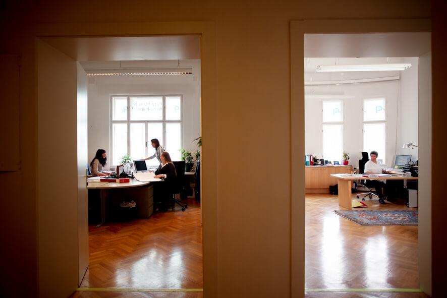 Büros einer Kanzlei - Rechtsanwältinnen Mag. Putz-Haas & Riehs-Hilbert in 1030 Wien